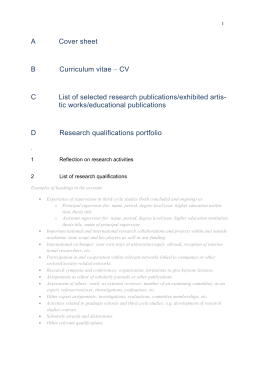 Template A-G research qualifications portfolio