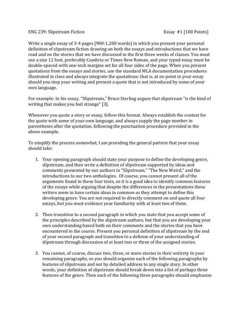 Essay Assignment #1
