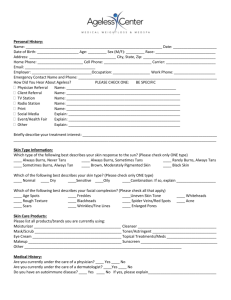 MedSpa Medical History Form