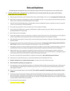 VG Rules and Regulations - Menomonee Falls Apartments