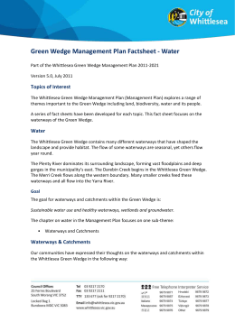 Green Wedge Management Plan Factsheet