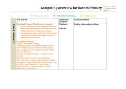 Computing overview for Barnes Primary