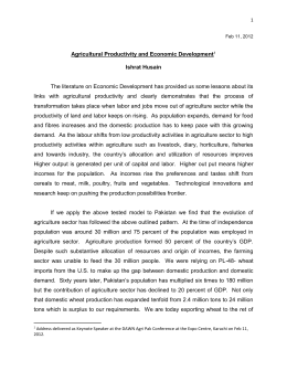 Agricultural Productivity and Economic Development