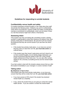 Guidelines for responding to suicidal students