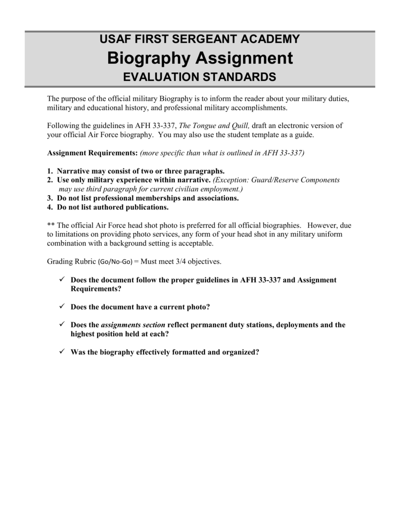 Biography Grading Rubric STUDENT (new window)