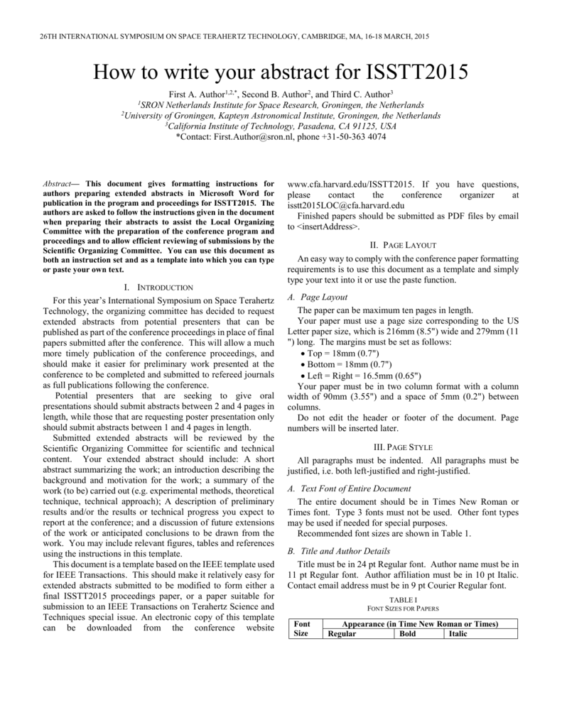 IEEE Paper Template in A221 (V21) Intended For Ieee Journal Template Word