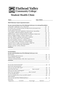 FVCC SHC Well Woman Exam Form