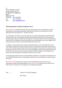 Letter of courtesy - CISM Sport Committee Shooting