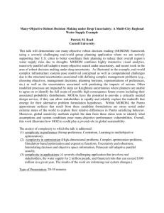 Many-Objective Robust Decision Making under Deep Uncertainty: A