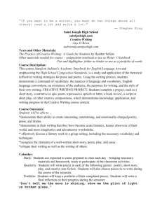 Creative Writing Syllabus - Saint Joseph High School