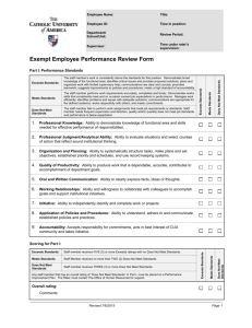 Updated 2015 Performance Evaluation B