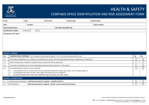 Confined space identification and risk assessment form