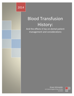 Blood Transfusion History: