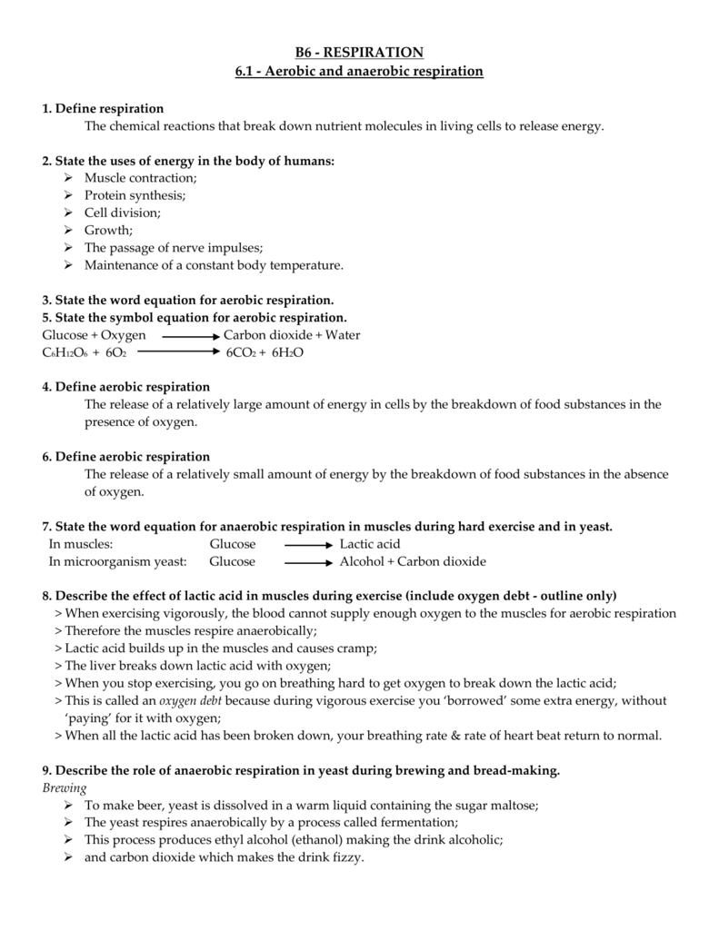 B61 Revision Notes