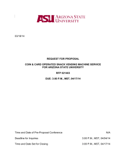 RFP 021403 - Arizona State University