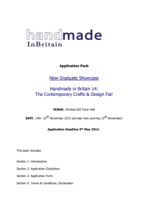 New Graduate Showcase Application Guidelines