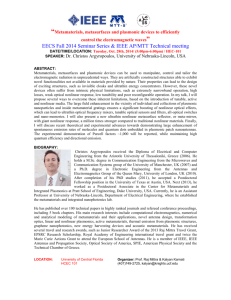EECS Fall 2014 Seminar Series & IEEE AP/MTT Technical meeting