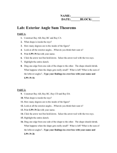 Exterior Angle Sum Theorems