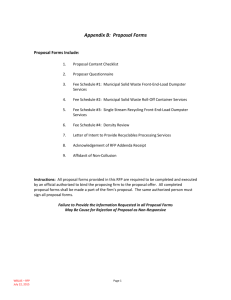 Appendix B: Proposal Forms - White Bear Lake Area Schools