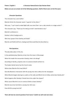 lesson plan jr a streetcar d desire scene class debate  flamm english 3 a streetcar d desire quiz review sheet