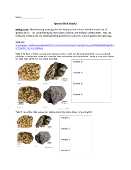 Igneous Rock Inquiry