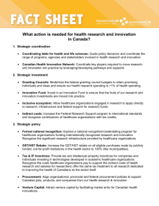 Fact Sheet: What action is needed for health research and innovation?