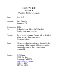 information - Lancaster County Youth Baseball League