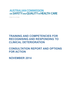 consultation report AND OPTIONS FOR ACTION
