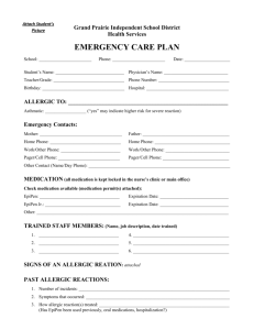 Emergency Care Plan - Grand Prairie Independent School District