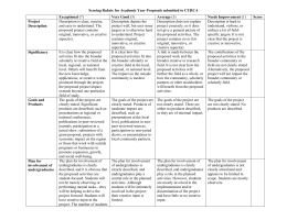 Scoring Rubric for Academic Year Proposals submitted to CURCA