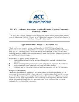 2015 ACC Leadership Symposium Application
