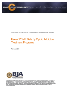 Use of PDMP Data by Opioid Addiction Treatment Programs