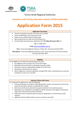 ATES 2015 Scholarship Application Form