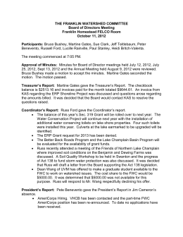 2012-10-11 FWC Board Minutes - Franklin Watershed Committee