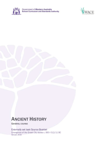 Ancient History - WACE 2015 2016