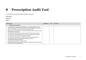 Prescription audit tool
