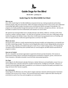 GUIDE DOG USER CONTRACT - Guide Dogs for the Blind