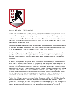 Note from Nick Parillo: ADM Versus AAU