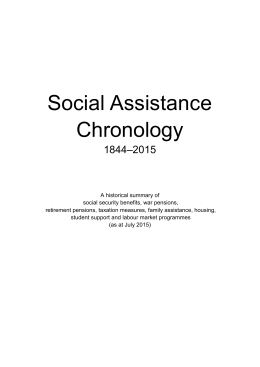 the chronology - Ministry of Social Development
