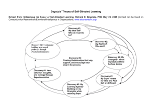 Boyatzis` Theory of Self-Directed Learning - Salto