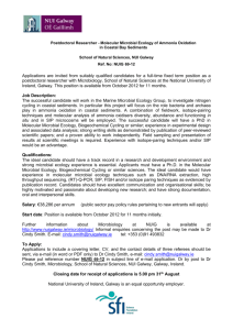 Postdoctoral Researcher - Molecular Microbial Ecology of Ammonia