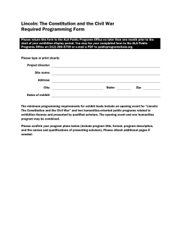 Required Programming Form