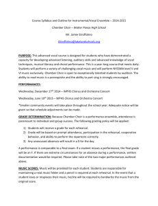 Chamber Choir Syllabus and Outline