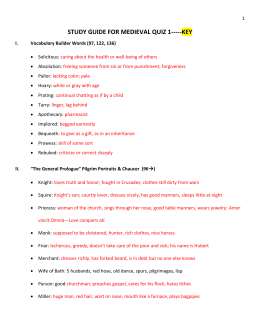 study guide for medieval quiz 1-----key
