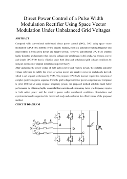 Direct Power Control of a Pulse Width Modulation Rectifier Using