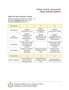 Chat Activity Rubric (.doc)