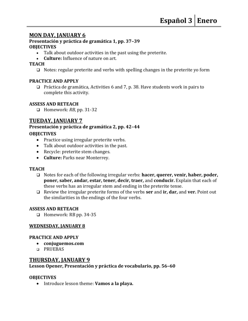 Uncategorized Irregular Preterite Worksheet 3 elgin public schools
