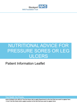 Nutritional Advice for Pressure Sores orLeg Ulcers updated PILS1