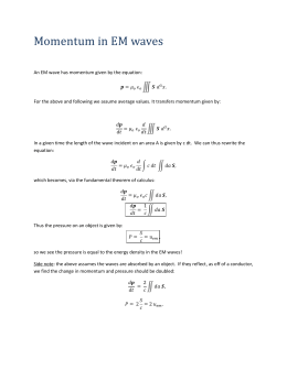 Momentum in EM Waves