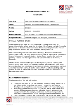 Job profile - British Business Bank